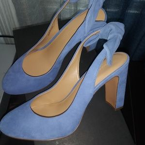 Banana Republic Cadi Suede Blue Heels Slingback